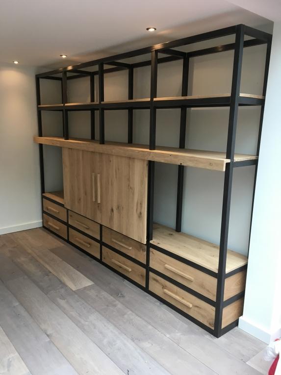 Verbazingwekkend Eiken/Stalen TV Kast 330x220cm - Portfolio - Kaldenbach meubels NL-22